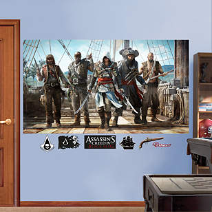 Pirate Group Mural: Assassin's Creed IV
